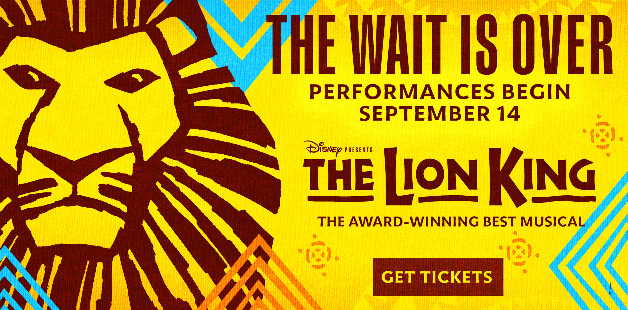 Disney THE LION KING - The Wait Is Over - Performances Begin September 14 - Get Tickets